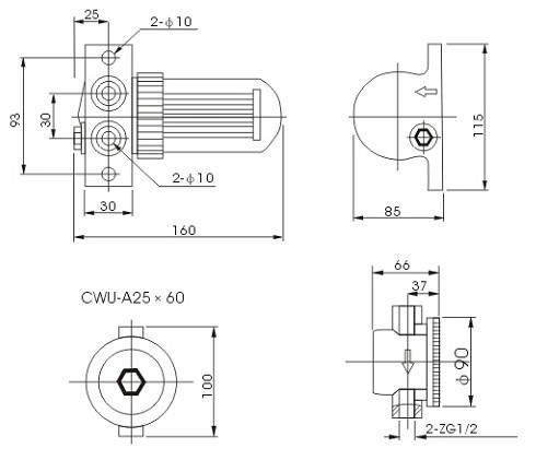 CWU型系列磁性过滤器图